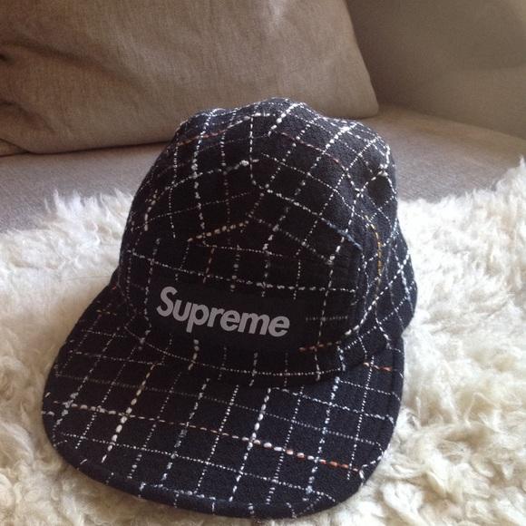 2628ecce6a7 NEW Supreme Boucle Camp Hat Black    RARE